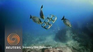 Edible beer rings to keep marine life safe