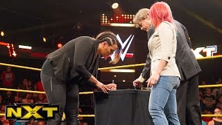 Asuka and Nia Jax sign their TakeOver contract:  WWE NXT, June 1, 2016