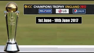 ICC Champions Trophy 2017 England Schedule And Venues Announced by ICC