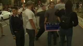 Raw: Trump Supporters Attacked After Rally