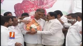 Telangana Minister Harish Rao Birthday Celebrations At Ministers Quarters | iNews