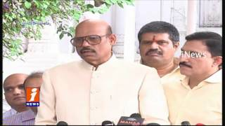 TG Venkatesh And Sujana Chowdary With Media Over After Elected As Rajya Sabha Candidates | iNews
