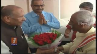 AP Council Chairman Chakrapani Congratulate New AP Rajya Sabha Members   Suresh Prabhu   iNews
