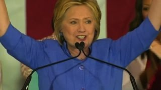 Clinton Hopes to Clinch Nomination by Tuesday