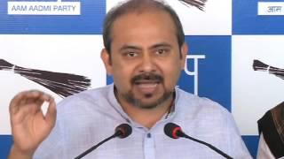 AAP press Brief on NDMC official MM Khan's Murder