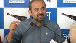 AAP Delhi Convener Dilip K Pandey Briefs Media on BJP's Press Brief on 2 yrs of Modi Govt