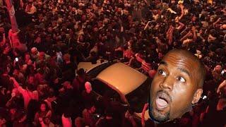 Kanye West Surprise Show Creates CHAOS!