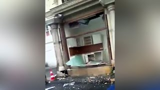 ISTANBUL BOMB ATTACK ON POLICE. Turkey -  car bomb attack kills 11 in Istanbul (RAW VIDEO)
