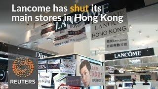Lancome shuts main Hong Kong stores over protests