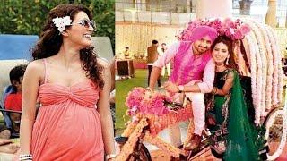 Checkout Geeta Basra's white themed baby shower