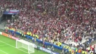 UEFA Euro 2016 - Russians shot a flare gun toward English Fans after the match England - Russia