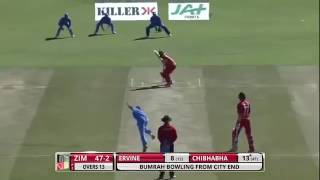 India vs Zimbabwe Jasprit bumrah 4-28 destroy zimbabwe batting.