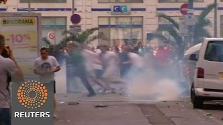 Clashes, tear gas in Marseille ahead of soccer match