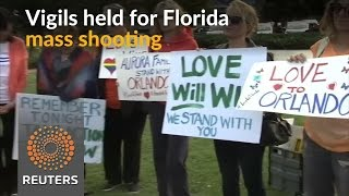 Vigils held in the U.S. for victims of Florida mass shooting