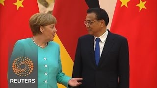 China's 'no trade war' vow to Germany