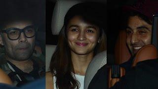 Sairat Celebrity Special Screening   Alia Bhatt, Karan Johar, Ranbir Kapoor
