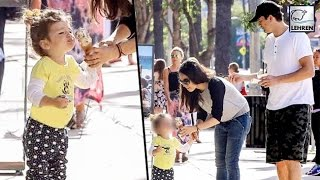 Wyatt Kutcher Eats Ice Cream With Parents Mila Kunis & Ashton Kutcher