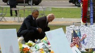 Obama Embraces Grieving Orlando Families