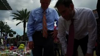 Sens. Rubio, Nelson Visit Orlando Memorial