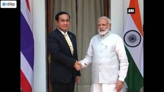 PM Modi Meets his Thai Counterpart in New Delhi