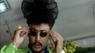 Radhika gets angry on Challenging star | Kannada Comedy Scene | Anatharu | Honavalli Krishna,Darshan