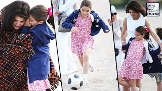 Suri Cruise SPOTTED Playing With Katie Holmes
