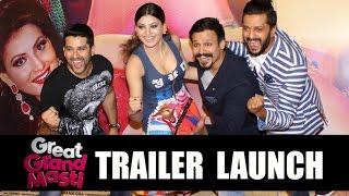 Great Grand Masti Trailer Launch - Riteish Deshmukh, Urvesh Rautela, Vivek Oberoi, Aftab Shivdasani