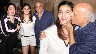 Alia Bhatt, Pooja Bhatt & Mahesh Bhatt At Udta Punjab Screening!