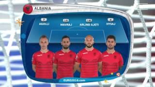Albania line-up v Romania: UEFA EURO 2016