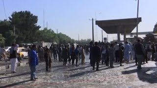 Raw: Taliban Suicide Bomber Kills 14