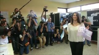 Lawyer Virginia Raggi of the anti-establishment 5-Star Movement makes history as the first female