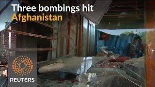 Three bomb blasts kill at least 22 in Afghanistan