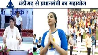 International Yoga Day: Smriti Irani performs Yoga in Bhopal