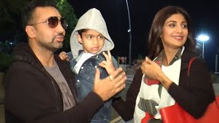 Shilpa Shetty spotted with son Viaan Raj Kundra Mumbai Airport