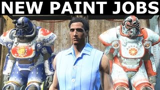 Fallout 4 Contraptions Workshop - New Power Armor Paint Jobs (Abraxo & Sugar Bomb)