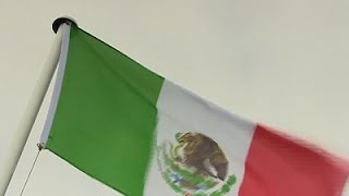Raw: Mexican Flag Raised at Trump's UK Property