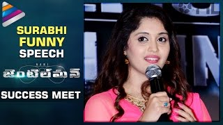 Surabhi Calls Herself a Barbie Doll | Nani Gentleman Movie Success Meet | Nivetha | Telugu Filmnagar