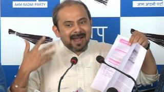 AAP Press Brief on Corruption in BJP ruled corporations and involvement of its leaders in it