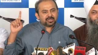 AAP press brief on How BJP making NDMC officer MM Khan's Issue a joke
