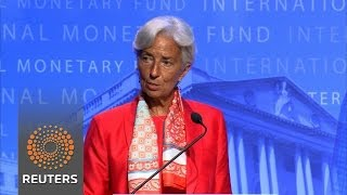 Lagarde says IMF will work to dampen volatility after Brexit