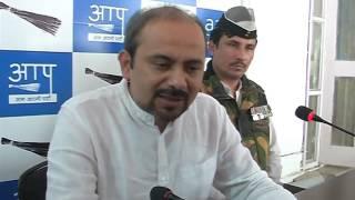 AAP Delhi Convener Briefs Media on the RaghuRam Rajan issue