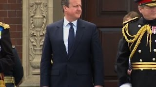 Raw: PM Cameron Attends Military Parade