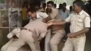 On Cam: Policemen in Lucknow fighting over division of bribe