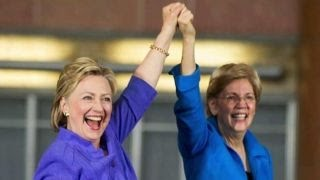 Warren and Clinton make first joint campaign appearance