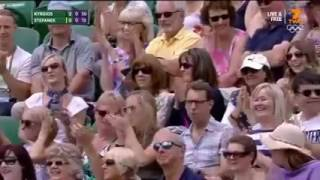 Nick Kyrgios Tweener Lob vs Stepanek Wimbledon 2016