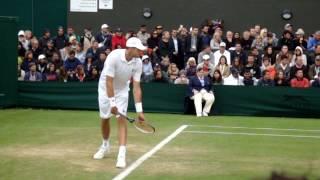 John Isner vs Marcos Baghdatis (CYP) Wimbledon 2016 Day 4