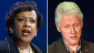 What did Clinton and Lynch talk about behind closed doors?
