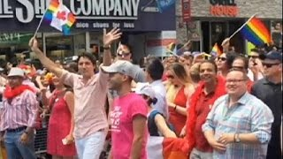 Trudeau becomes first Canadian PM to join gay pride parade
