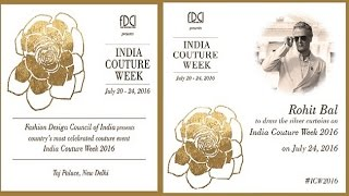 Rohit Bal will close Indian Couture Week 2016 with his collection