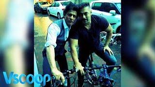 BFF Reunites Shah Rukh & Salman Khan Go Cycling Together #VSCOOP